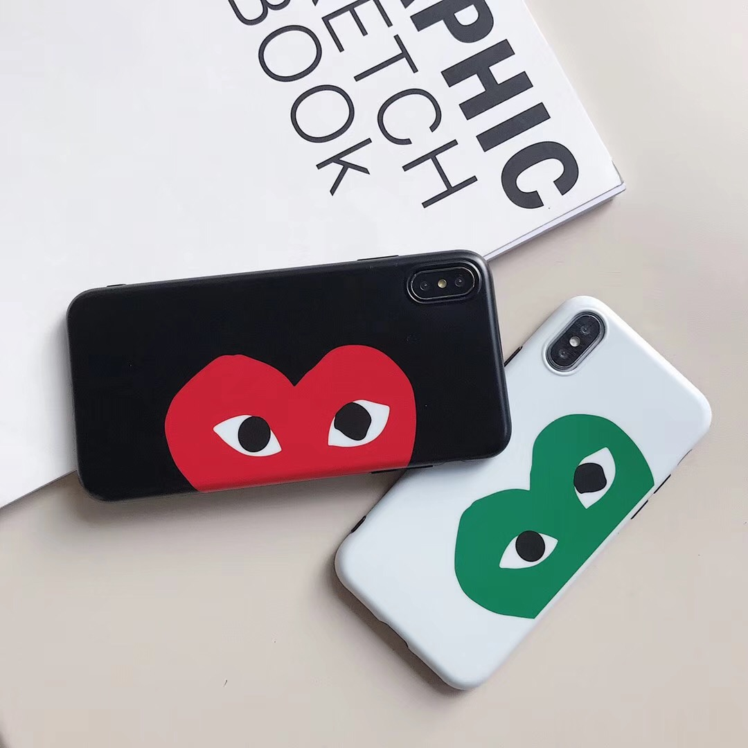 Fashion Japan commes des garcons cdg Brand Phone case for iphone X Xs Max XR 6 6S 7 8 Plus soft imd Cute cartoon love Cover