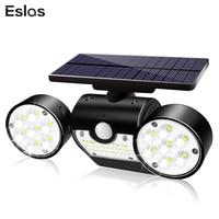 Eslas Double Head Solar Lamp Waterproof Garden Wall Solar Light Adjustable Angle Security Lighting for Wall light Drop shipping