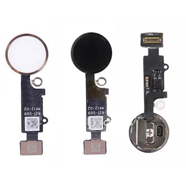 1 pc início chave botão para iphone 7 botão home flex assembléia cap cable + chave w0g37 t10