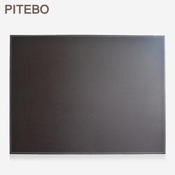 Petebo коричневый кожаный Настольный органайзер файл скрепки для бумаги рисование и письменная доска блокнот планшет