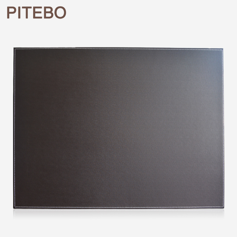 PITEBO Brown  Leather Office Desk File Paper Clip Drawing & Writing Board Writting Pad Tablet
