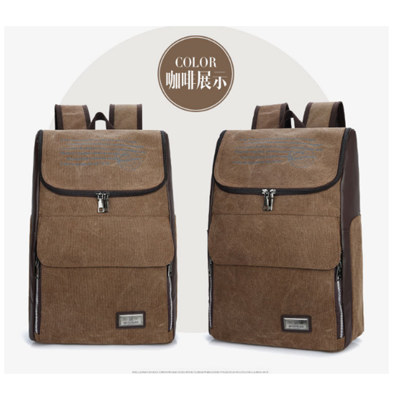 New Design Large Capacity Men Backpack Female Mochila Summer Backpack Male Canvas College Laptop Backpack for women