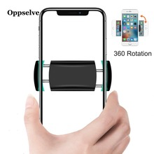 Oppselve Car Phone Holder For iPhone Xs Max 8 7 Adjustable Car Air Vent Mount Holder 360 Degree Rotation Mobile Car Phone Stand цены