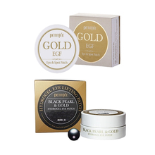 PETITFEE Gold EGF Eye Spot Patch ( Eye Mask 60pcs + Spot Patch 30pcs ) + PETITFEE Black Pearl Gold Eye Maks 60pcs Face Skin Care petitfee black pearl gold hydrogel eye patch 60 pcs gel mask skincare dilute the black eye fine lines eye mask replenishment