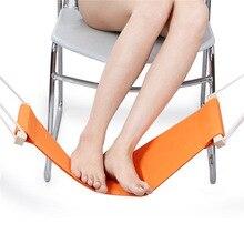 цена на 2018 Durable Desk Feet Hammock Foot Care Tool Useful Outdoor Rest  Hammock Cot Portable Office Fishing Hammock For Feet Rest