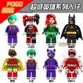 8 UNIDS Joker Marvel Super Heroes Batman Harley Quinn Calendario Gente pone ladrillos bloques de construcción de Juguetes para Los Niños
