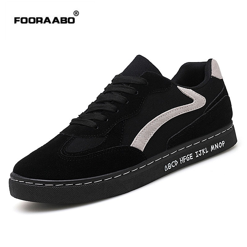 Fooraabo 2018 Spring Summer Men Sneaker Casual Shoes Breathable Shoe Fashion Lace Up Flats Male Shoes Adult Tenis Masculino men 2017 spring summer fashion shoes lace up low breathable male flats casual shoes students loafers white khaki shoe hot sale