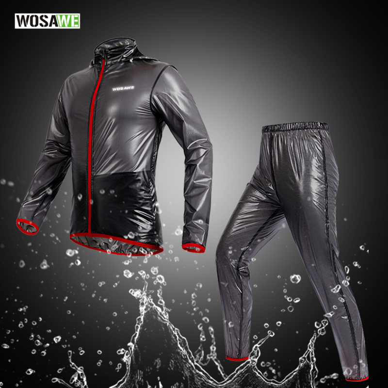 WOSAWE Raincoat Cycling Jacket Waterproof Windproof Outerwear Running MTB Bike Bicycle Rain Jackets Jersey Cycling Clothing стоимость