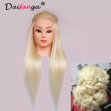 2016 New Arrival Hair Mannequin 80 Human Hair Mannequin Head For School Practise Hairstyling Professional Training