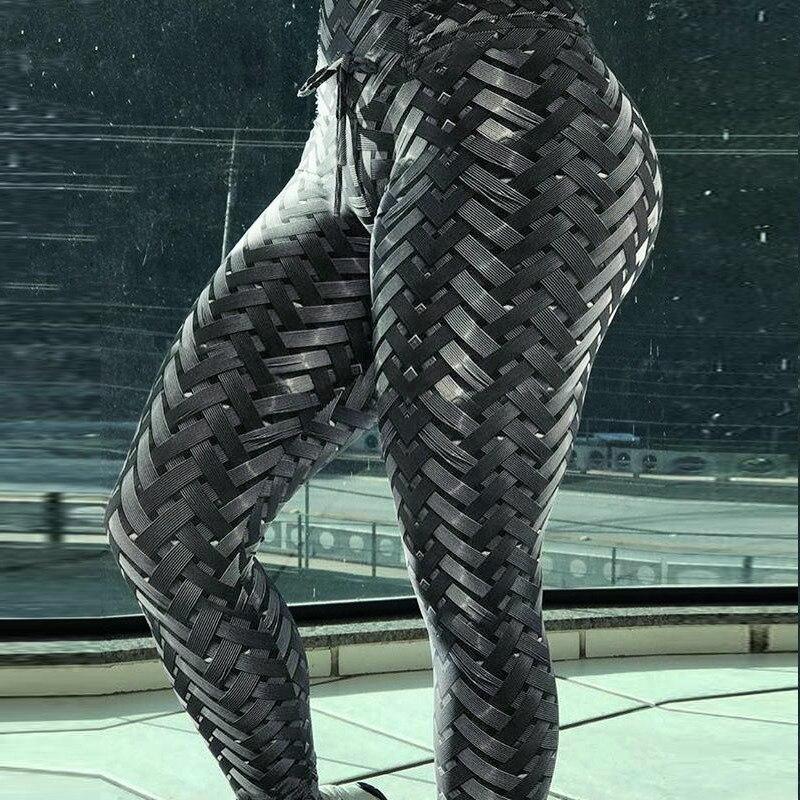 2019 3D Printed Iron Armor Weave   Leggings   Women High Waist Plus Size Leggins Push Up 3D Workout Elastic Bowknot Fitness Pants