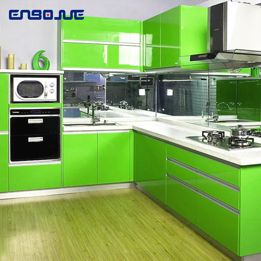0.4x5M Kitchen Cabinet Waterproof Stickers Furniture Wardrobe Table Door Self Adhesive Wallpaper Solid Color Paint Wall StickerWallpapers   -