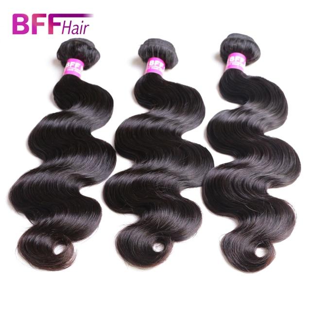 BFF Hair Products Brazilian Virgin Hair Body Wave 8A Brazilian Hair Weave Bundles Deal Human Crochet Hair Extensions 3 Bundles