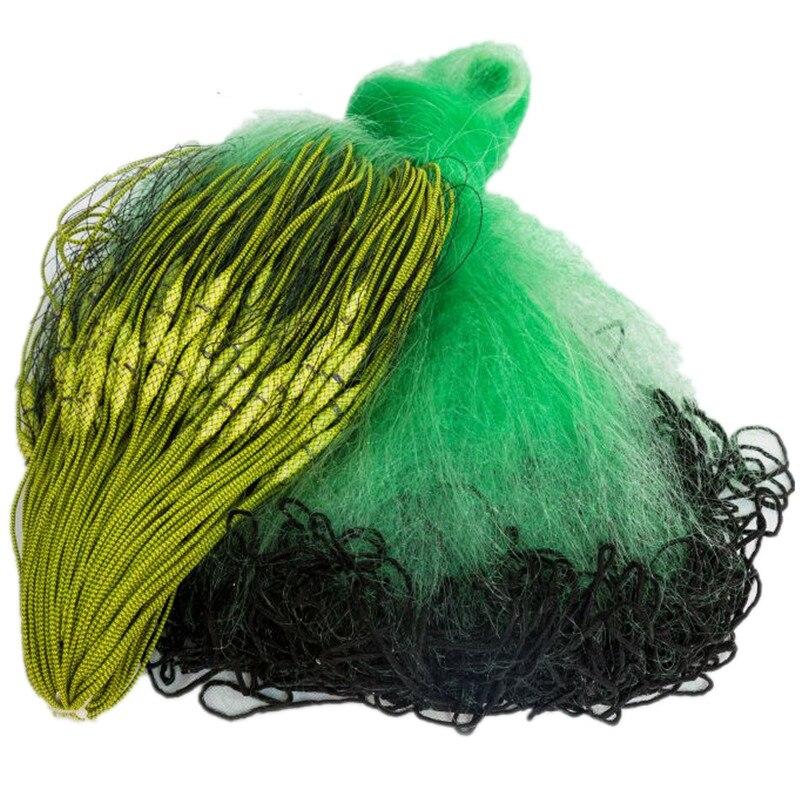 Profondeur 1.2 m-2.0 m leht 100 m monofilament nylon collant filet de pêche chine 3 couches évier filet corde enroulé pesée et bouée poisson réseau