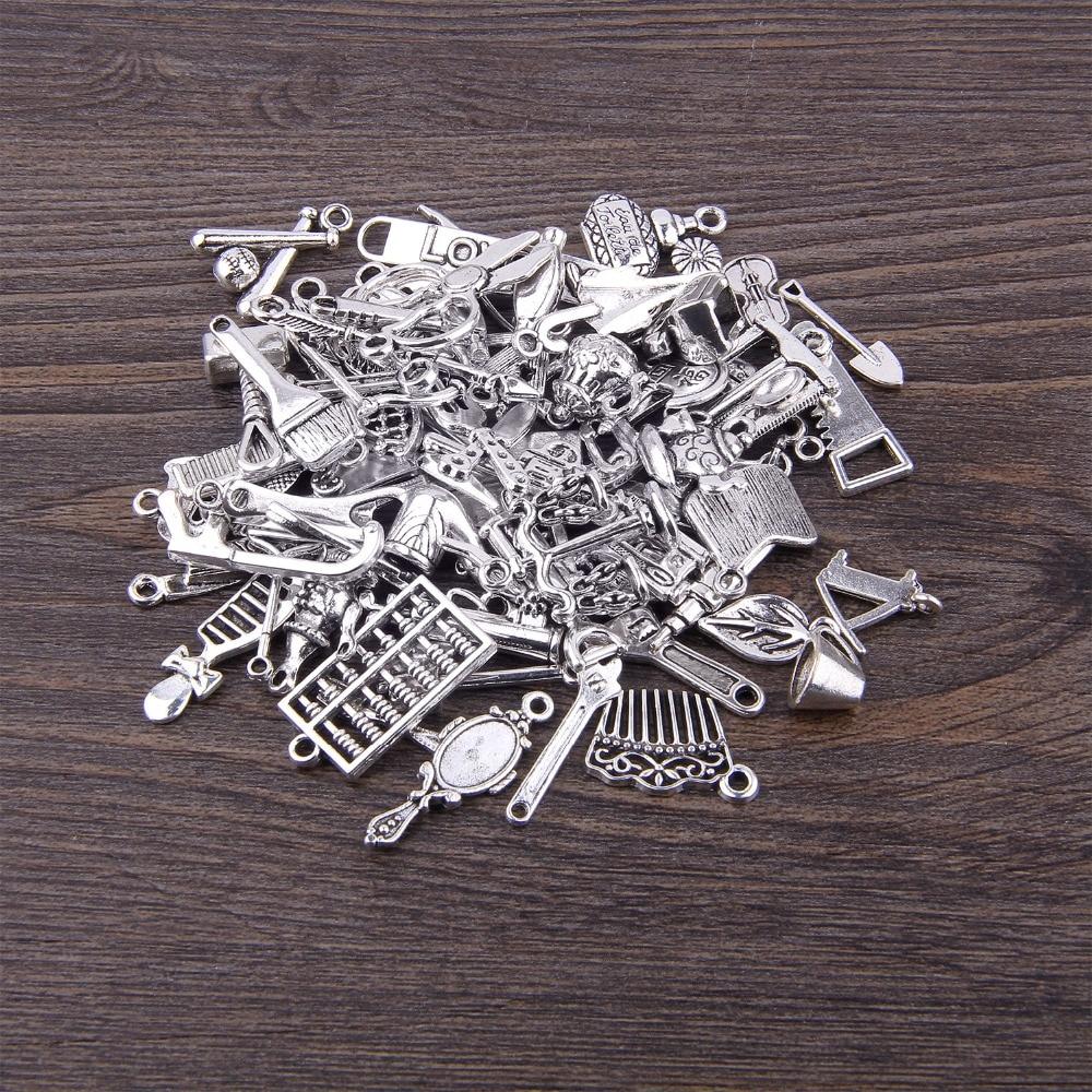 Tibetan Silver Alloy Tool DIY Charms Pendant AXE WOOD CHOPPER