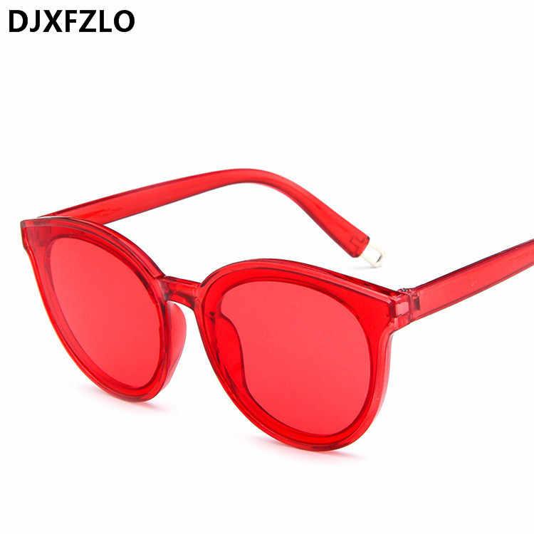 cda2d6e7caa5f 2018 Women Cat Eye Brand Designer Round Sunglasses Mirror Colorful Pink  Lady Female Hot sale Sun