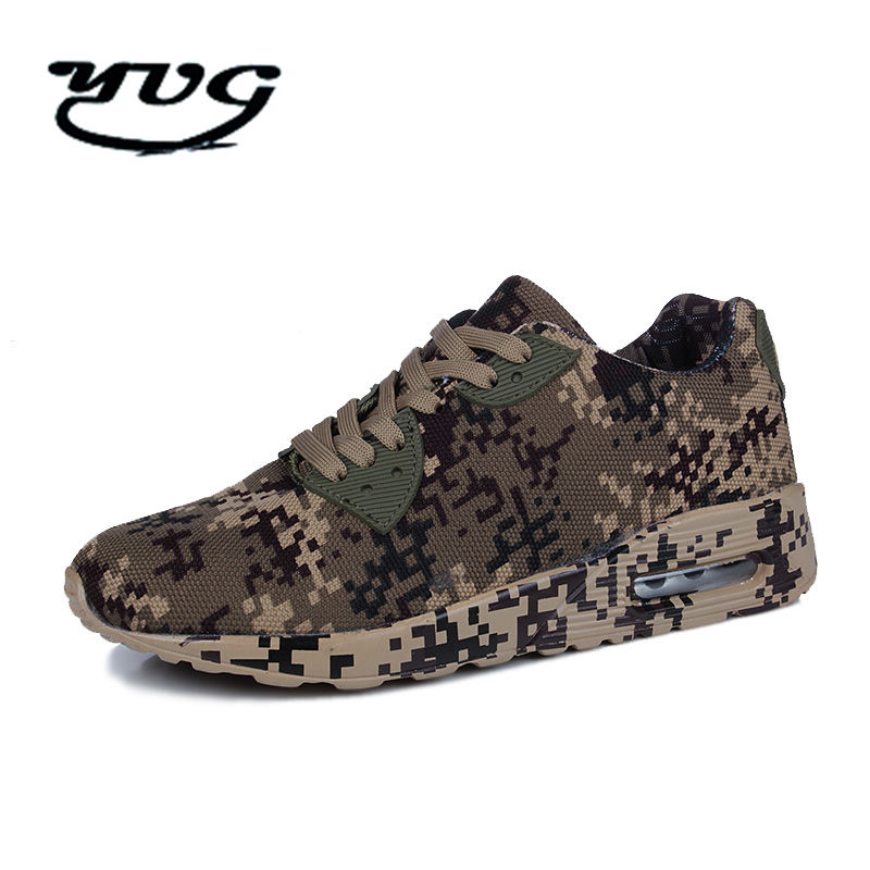 Running Shoes for Men Women 2018 New Camouflage Military Unisex Breathable Flying Mesh Sneakers men Comfortable Army Green Brand