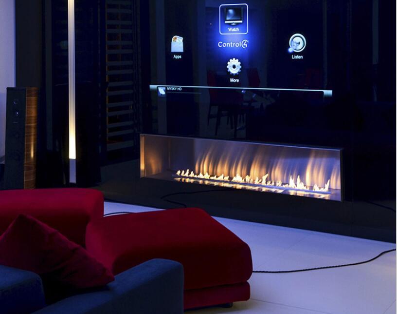 36 Inch Wifi Intelligent Electric Smart Bio Ethanol Fireplace Wall Mounted