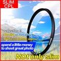 Zomei Ultra Slim Циркулярный Поляризационный Поляризатор PRO CPL объектив Камеры Фильтр 52/55/58/62/67/72/77/82 мм для Sony Nikon Canon Pentax