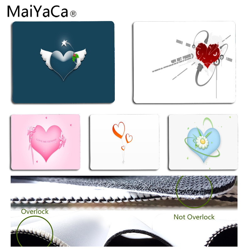 MaiYaCa In Stocked Cool Heart Durable Rubber Mouse Mat Pad Size for 180*220*2mm and 250*290*2mm Mousepad