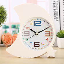 Creative colorful Moon Bay alarm clock personality home fashion student gifts bedside bedroom lazyman waking up alarm clock 1144 waking beauty