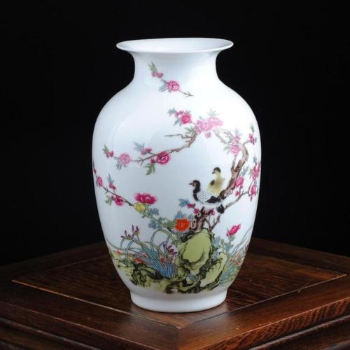 Exquisite Jingdezhen Porcelain Hand Painted Flower Bird Vase In