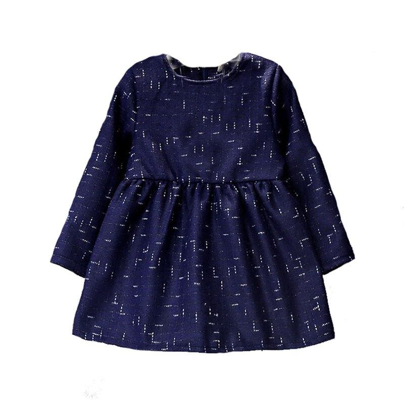 Little girl dress winter 2016 new baby dresses Plus velvet warm kids clothes long sleeve girls little frock