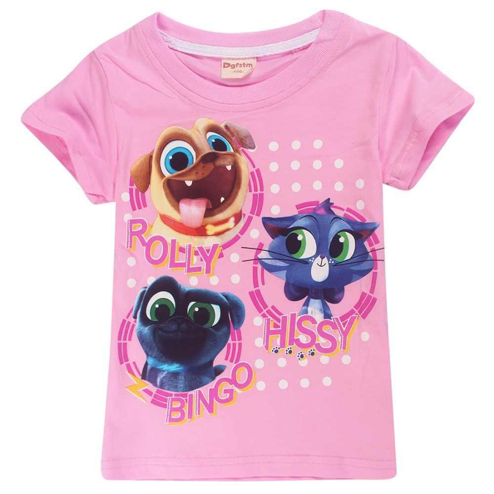 2693a66fe ... 2018 verano cachorro Pals camiseta para niñas Animal impreso algodón  Tops juego niños camisetas para niñas ...