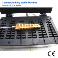 Commercial Nonstick Lolly Waffle Baker Tower shaped Waffle Maker 110V 220V Electric Lolly Cake Machine
