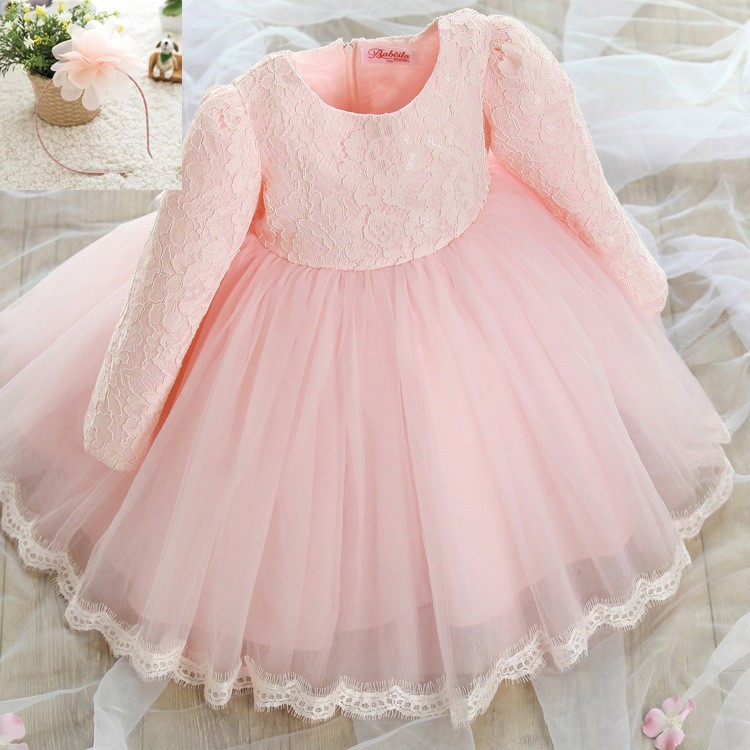 elegant princess baby girls long sleeve dress children autumn ...