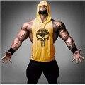 Animais roupas de marca Top Homens Tanque Ouros Longarina Muscular Musculação Camisa do Exercício de Fitness Undershirt Vest academias de ginástica Plus Size