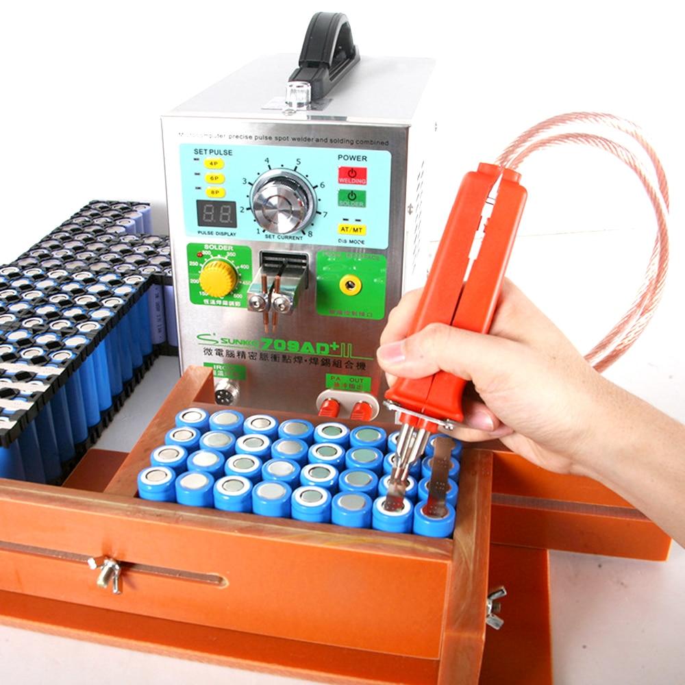 3.2KW 709AD + indução automática máquina de solda a ponto da bateria de lítio de alta potência máxima de soldagem espessura 0.35 milímetros de solda machin