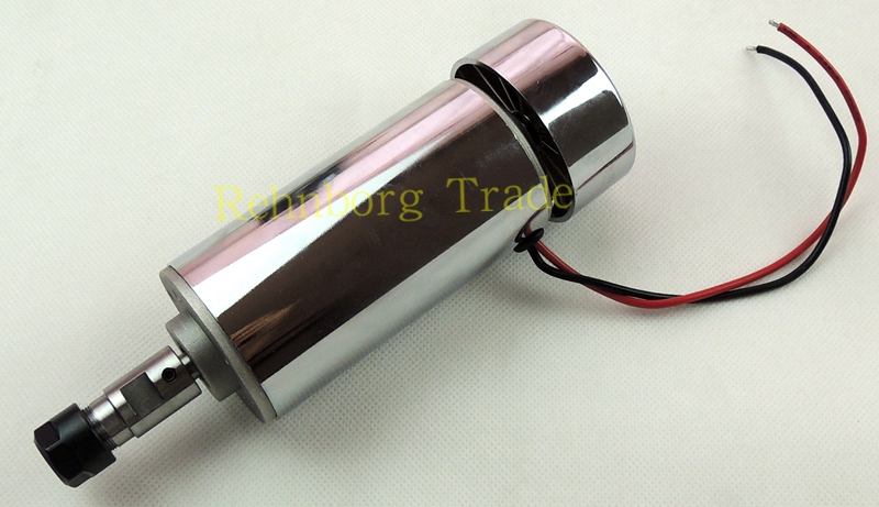 CNC 300W DC12-48V Spindle motor, 48V-12000r/min, 0.3KW spindle motor for CNC milling machine+ 1pcs ER11 Collect free shipping 500w er11 collet 52mm diameter dc motor 0 100v cnc carving milling air cold spindle motor for pcb milling machine