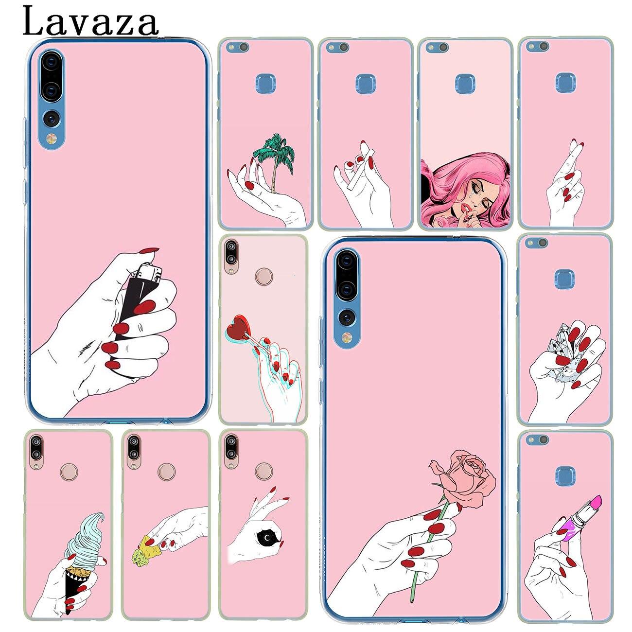 Lavaza woman girl hand wallpaper Phone Case for Huawei P30 P20 P9 P10 Plus P8 Mate 20 Pro Lite Mini 2016 2017 P smart 2019 Cover huawei p30 pro обои