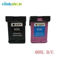 Black Color Ink Cartridge For HP 60 For HP DJ D2530 D2560 F4280 PhotoSmart C4600 C4680