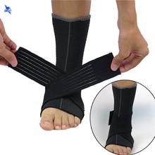 2Pcs/lot Pressurizable Bandage Neoprene Ankle Support Protector Foot Basketball Football Badminton Anti Sprain Ankle Guard Brace