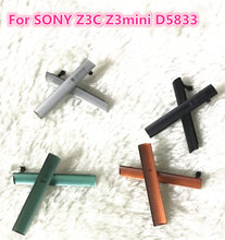 Z3 Compact SIM Card + Micro SD & USB Charging Slot Port Dust Plug Block sets Cover For Sony Xperia Z3 Compact mini D5803 D5833(China)