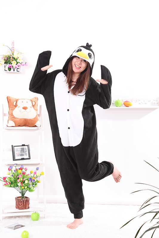 Кигуруми Пингвин черный свободный комбинезон унисекс спальный костюм для  взрослых пижамы Костюмы для косплея животных пижамы 4d57541bef95b