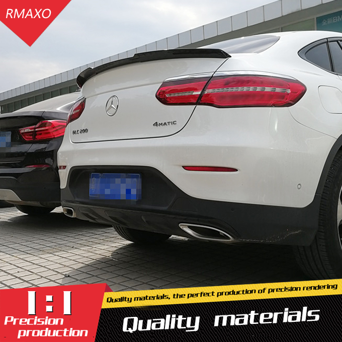For Mercedes Benz Glc Class Coupe Glc300 Glc250 Spoiler: For Benz GLC Coupe GLC300 GLC200 Spoiler ABS Material Car