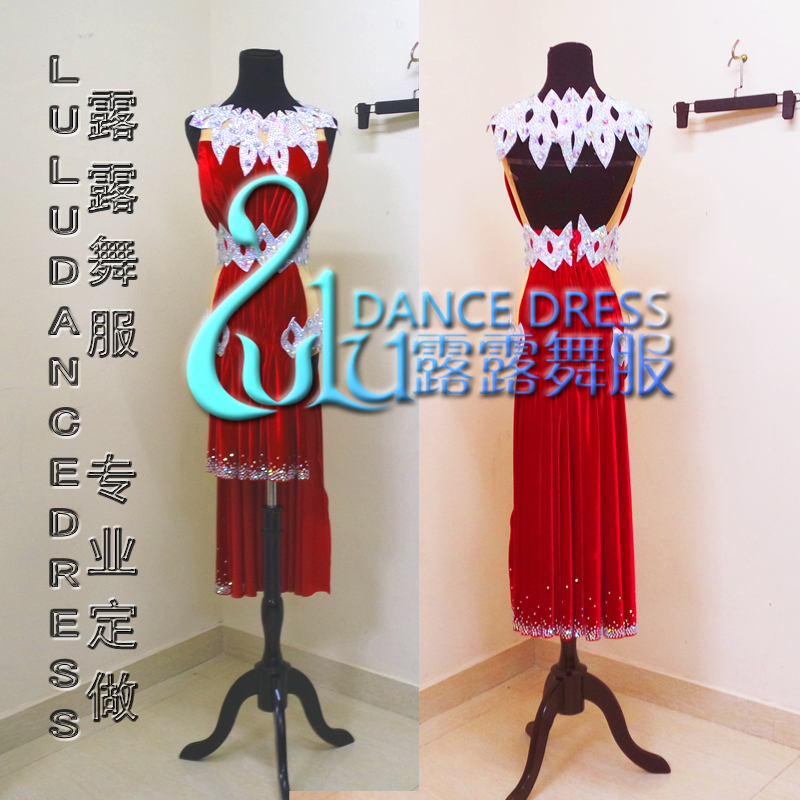 2016 Women Latin Dance Dress Women Tassel Latin Dance Costume Dance Latin Dresses Tango Dress