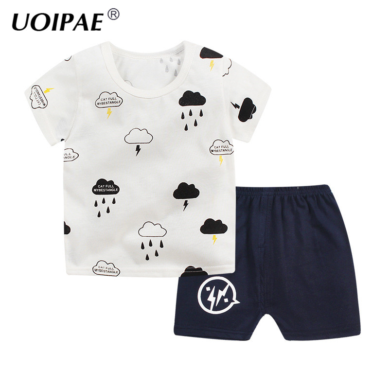 Kids Clothing Set Baby Boy Combed Cotton T Shirt+Short Pants 2Pcs Children Set for Summer Boy Cartoon Clothes Fits 2-6T JTX02 2pcs set baby clothes set boy