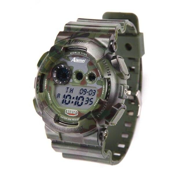 c05bef16a8945 Aismei التمويه الرجال الرياضة الساعات الرقمية LED M... لنا  9.28. Aismei أحدث  عالية الجودة ساعة رقمية ...