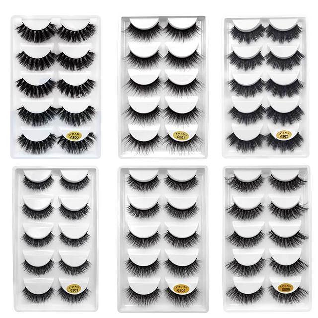 50 pairs Mink Lashes 3D Mink Eyelashes 100% Cruelty free Lashes Handmade Reusable Natural Eyelashes False Lashes Makeups G805 6