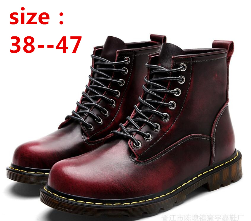 Genuine leather Martin ankle men winter boots platform chaussures snow boot  Waterproof Autumn  shoesGenuine leather Martin ankle men winter boots platform chaussures snow boot  Waterproof Autumn  shoes