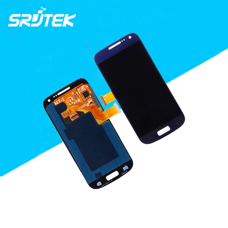 100% Original + 100% Work Parts For Samsung Galaxy S4 Mini i9195 LCD Display Touch Screen Assembly Blue Color