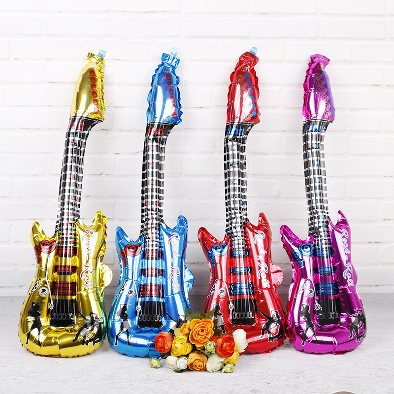 Toys & Hobbies 6pcs Colorful Inflatable Guitars Party Inflatable Balls Classic Toy Karaoke Party Decorations Ballon Decoration Birthday Globos