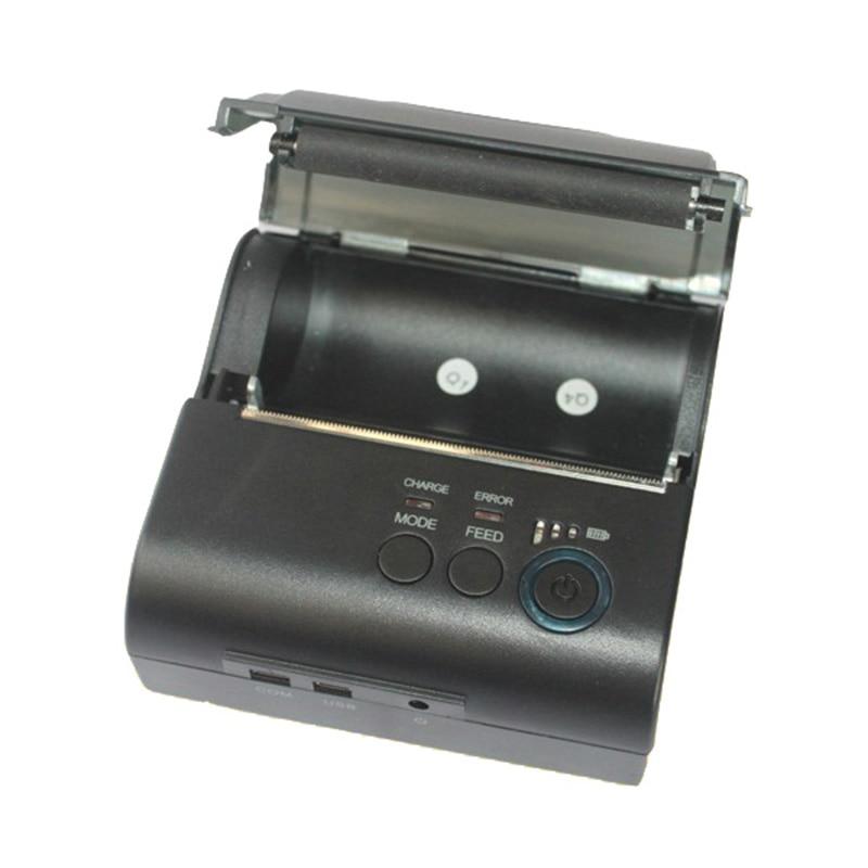 ZJ POS 8001LD with USB Interface mini 58mm Thermal Receipt Printer Ticket Bill Printer Portable 80mm Bluetooth2.0 4.0 zj 5890k mini 58mm black and white printer pos receipt thermal printer built in power light with usb port power interface