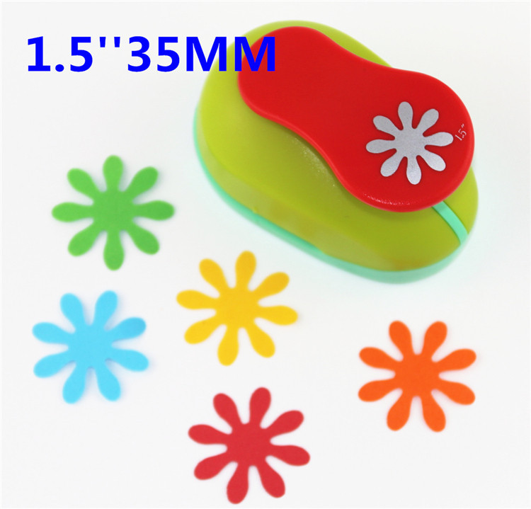 Free Ship Flower 1.5'' (35mm) Scrapbook Paper Cutter Scrapbooking Punches Hole Punch Child Craft Punch Embosser Kid Toy S2936-8