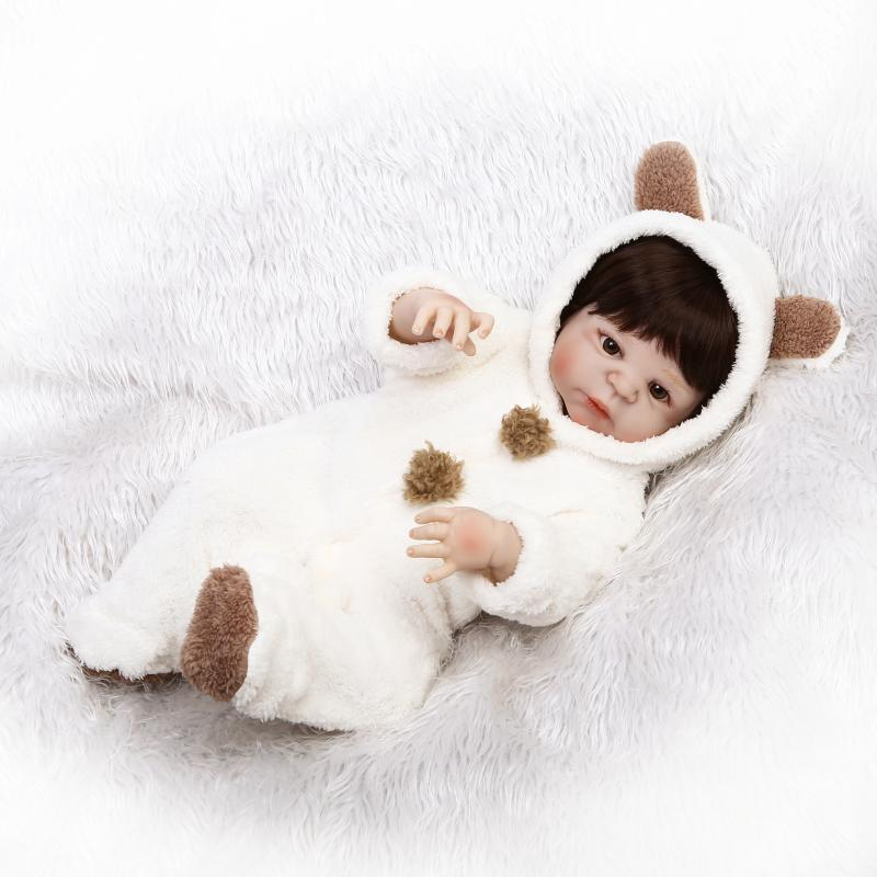 все цены на New Design Alive Baby Girl Dolls 23 Inch Full Body Silicone Vinyl Newborn Realistic Babies Toy with Cute Clothes Kids Play Dolls