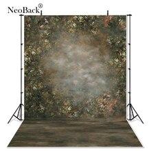 NeoBack classico dipinto Look scenico Vintage floreale giardino fotografia sfondo Studio professionale ritratto sfondi foto