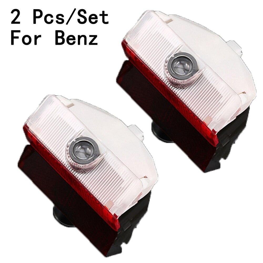 For Benz GLK/X204/W169/W168/W245 Weclome Lamp With Logo 2Pcs/Set Only LED Courtesy Lens Ghost Shadow Projetor 3W